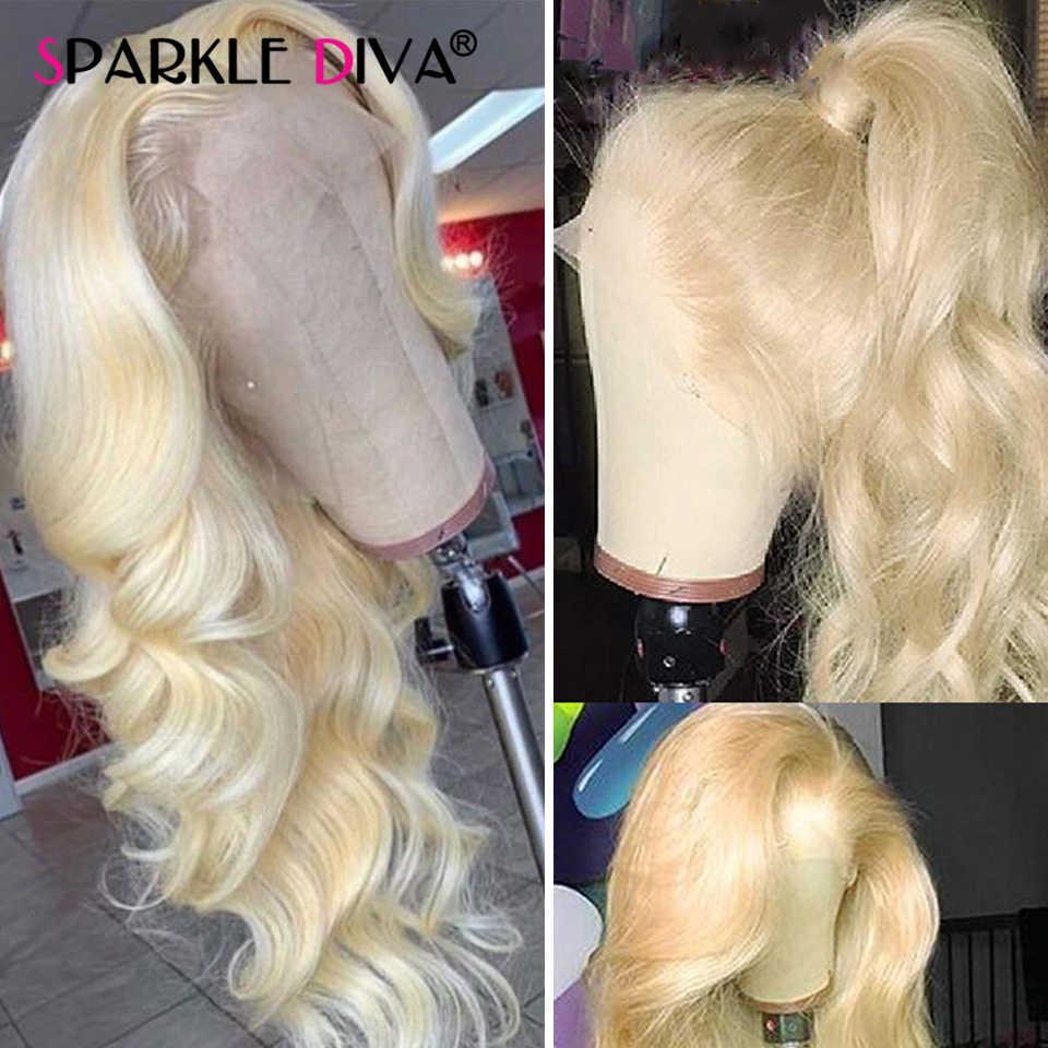 613 Honing Blonde Kant Voor Pruik Peruaanse Lichaam Wave Lace Front Pruik Remy 13*4 Lijmloze Transparant 613 Kant voor Menselijk Haar Pruiken