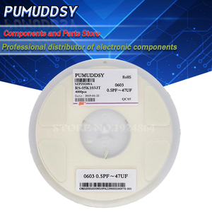 Image 1 - 4000PCS 0603 smd capacitor ceramic 0.5pf 22pf 100pf 10pf 10nf 100nf 1uf capacitors kit sets 0.5pF 22uF