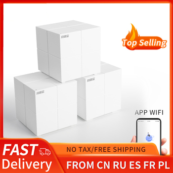 Tenda MW6 Nova Whole Home Mesh Wireless WiFi System with 11AC 2.4G/5.0GHz WiFi Wireless Router and Repeater, APP Remote Manage 1