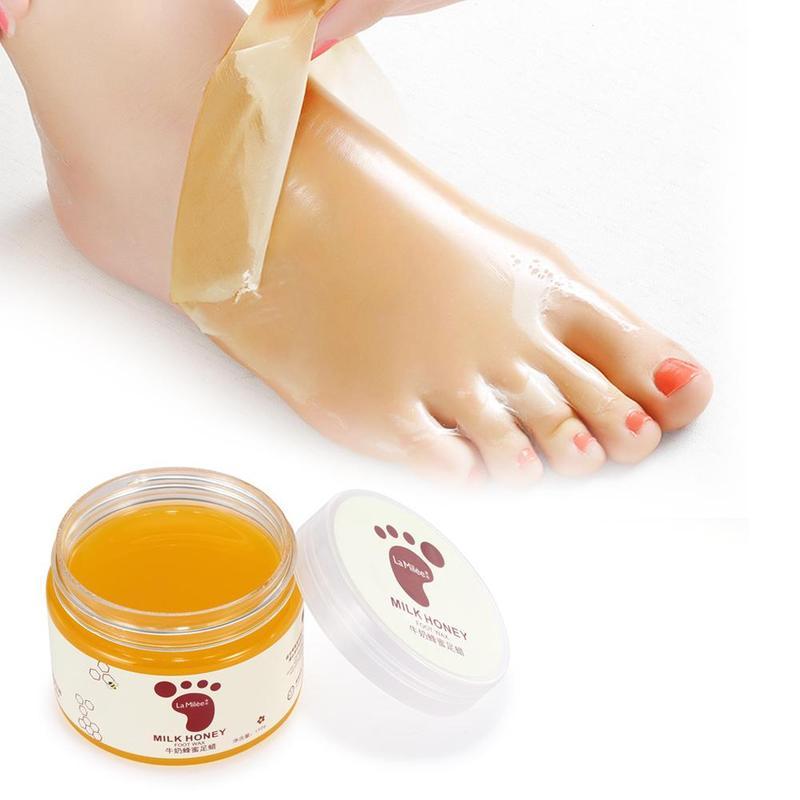 Honey Milk Foot Wax Feet Mask Moisturizing Hydrating Nourishing Whitening Skin Care Peel Off Dead Skin Exfoliating Anti-dry Mask 1