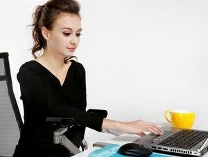 Image 5 - החדש ארגונומי מחשב משענת מתכת זרוע תמיכה מתכווננת זרוע תמיכה שאר יד בית משרד עכבר יד סוגר