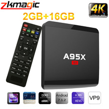 Android 7.1 TV Box Amlogic S905W Quad Core 2GB 16GB Smart TV BOX 4K HD 2.4G Wifi Media Player Smart Android tv box Set Top Box