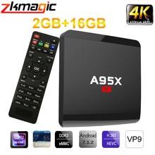 Android 7.1 TV kutusu Amlogic S905W dört çekirdekli 2GB 16GB akıllı TV kutusu 4K HD 2.4G Wifi medya oyuncu akıllı Android tv kutusu Set üstü kutusu