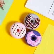 Funny Donut หูฟังแบบมีสาย 3.5 มม.หูฟังโทรศัพท์หูฟังสายสำหรับ iPhone Samsung Huawei เด็กสาวของขวัญ