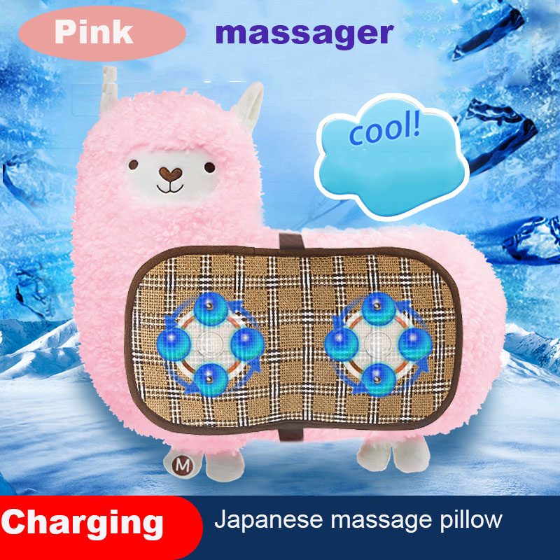 Japanese-Style Massager Pillow Fully Automatic Shoulder Neck Whole Body Alpaca Plush Toy Doll Birthday Gift FemaleValentine's