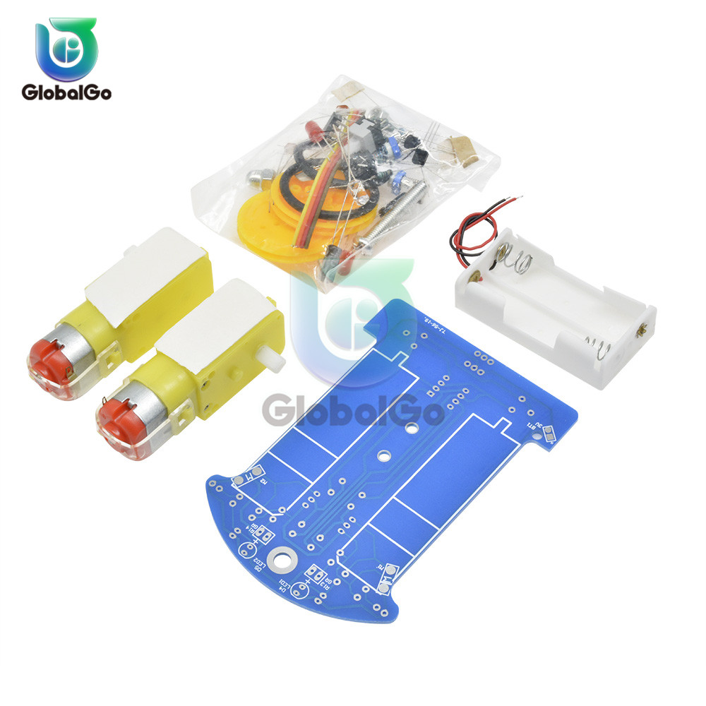 Image 2 - D2 1 DIY Kit Intelligent Tracking Line Smart Car Kit TT Motor Electronic DIY Kit Smart Patrol Automobile Parts For Baby-in Instrument Parts & Accessories from Tools