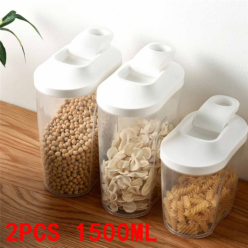 Cover Container-Organizer Storage-Boxes Scaled Food-Bean-Rice Kitchen Plastic Cereal