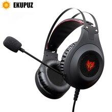 EKUPUZ N2 auriculares con micrófono, auriculares estéreo para videojuegos, auriculares para jugadores de teléfonos móviles, PS4, Xbox y PC