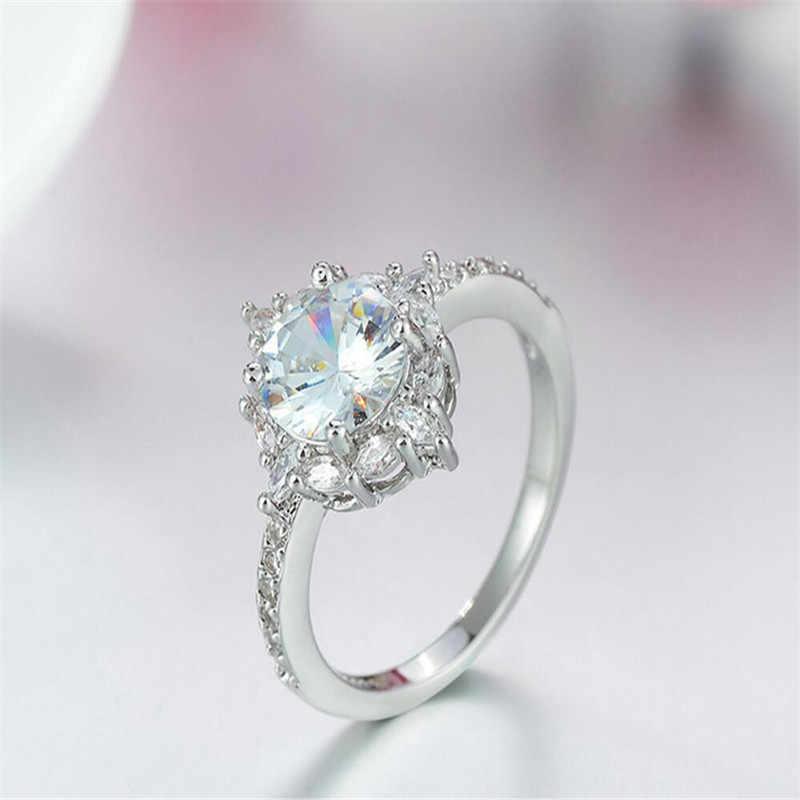 Znファッション限定版のウェディングリング特別な瞬間のための彼女のベストギフトシンプルな最高品質の婚約指輪