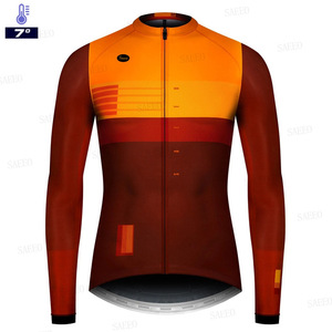 2020 Pro Team spring and fall Long Sleeve Cycling Jersey Set Bib Pants Clothing MTB Bike Jersey Uniform Men Clothes gobikful