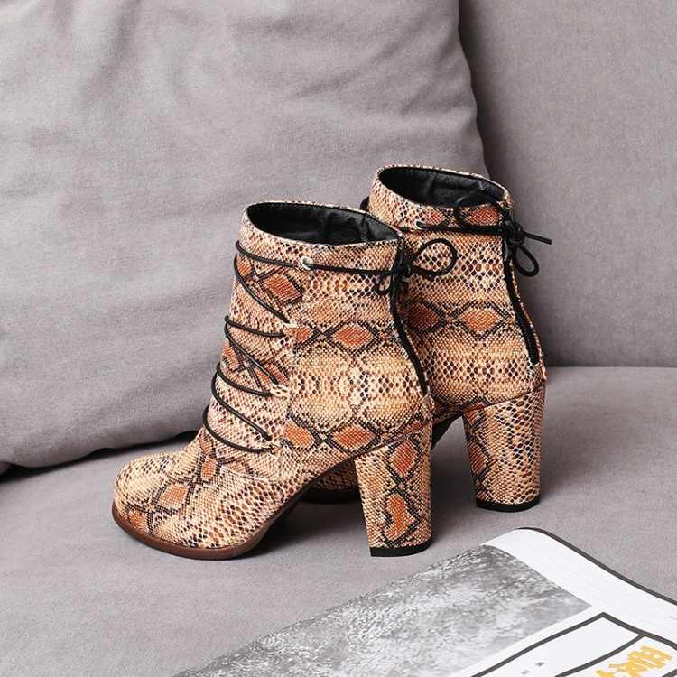 Oversized 10 11-17 Laarzen Vrouwen Schoenen Enkellaarsjes Voor Vrouwen Dames Laarzen Schoenen Vrouw Winter Cross Band Panache luipaard Print