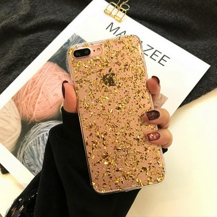 H1f772d592abf43238d7360bf841dd7ebI - GIMFUN Star Bling Glitter Phone Case for Iphone 11 Pro Max Clear Back Love Heart tpu Case Cover for Iphone Xr X 7 6 8 Plus 5s SE