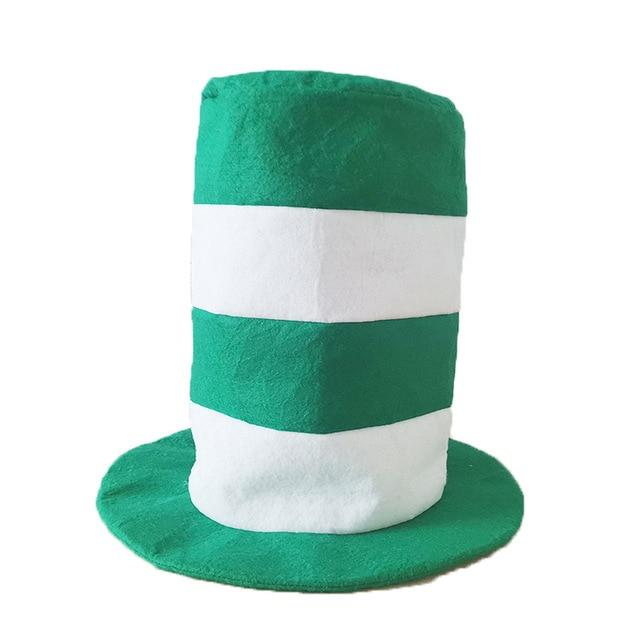 Saint Patrick Costume Leprechaun Top Hat Beard Accessory Party Cosplay Cap Green Party Irish Hats ST Patrick's Day 1