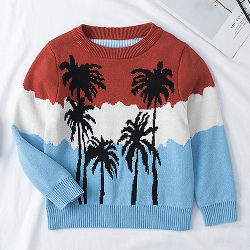 1-6Yrs New 2020 Boy Girl Long Sleeve Loving Heart Knitted Sweater Autumn Winter Boys Girls Sweaters For Baby Girls Kids Sweater 11