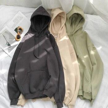 Men's Comfy Pure Hoodies 2020 Autumn Fleece Oversized Hooded Sweatshirt Men Hip Hop Hoodie For Men Classic Hoody Pullover Tops 1