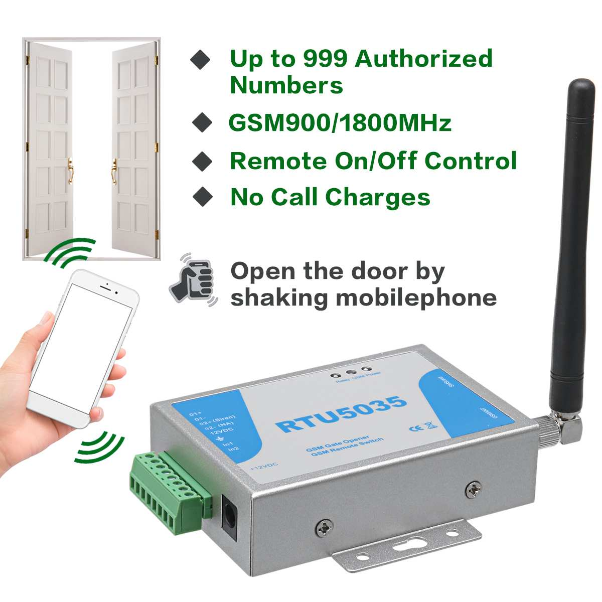 RTU5024 RTU5035 GSM Gate Opener Relay Switch Remote Control Door Access Wireless Door Opener By Free Call 850/900/1800/1900MHz