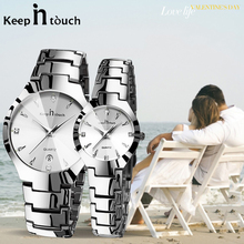 Luxury Couple Watches Pair Men And Women Waterproof Calendar