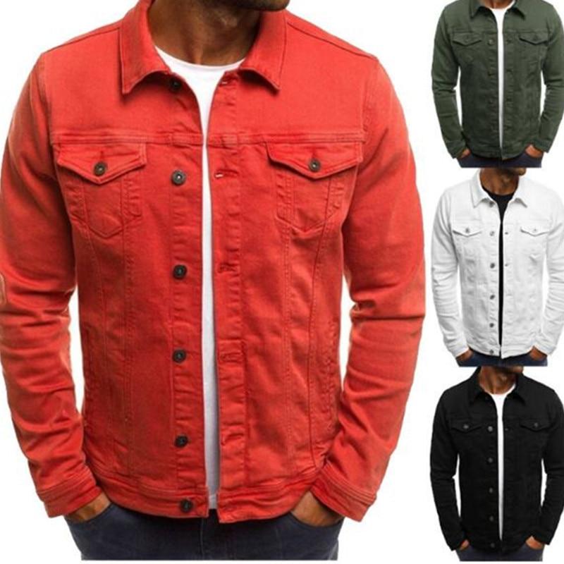 Men's Jacket Street-Style Multi-Pocket New Slim Lapel Casual Workman's
