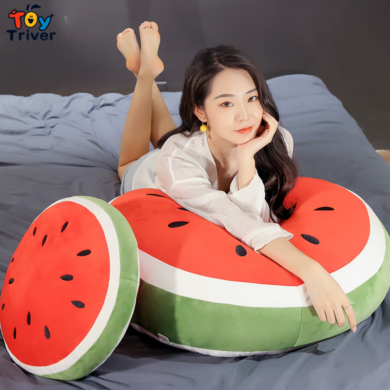 Watermelon Fruit Plush Toy Stuffed Doll Sofa Car Pillow Cushion Home Decor Creative Baby Kids Children Girl Gift Drop Shipping