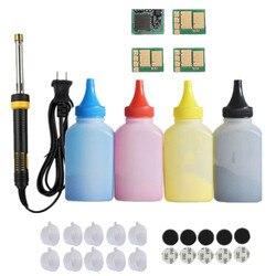 Wkład toner w proszku wkład zestaw narzędzi + 4 Czip do drukarek HP CF540A 203A Color LaserJet Pro M254nw 254dw MFP M280nw M281fdw 281fdn w Kasety z tonerem od Komputer i biuro na