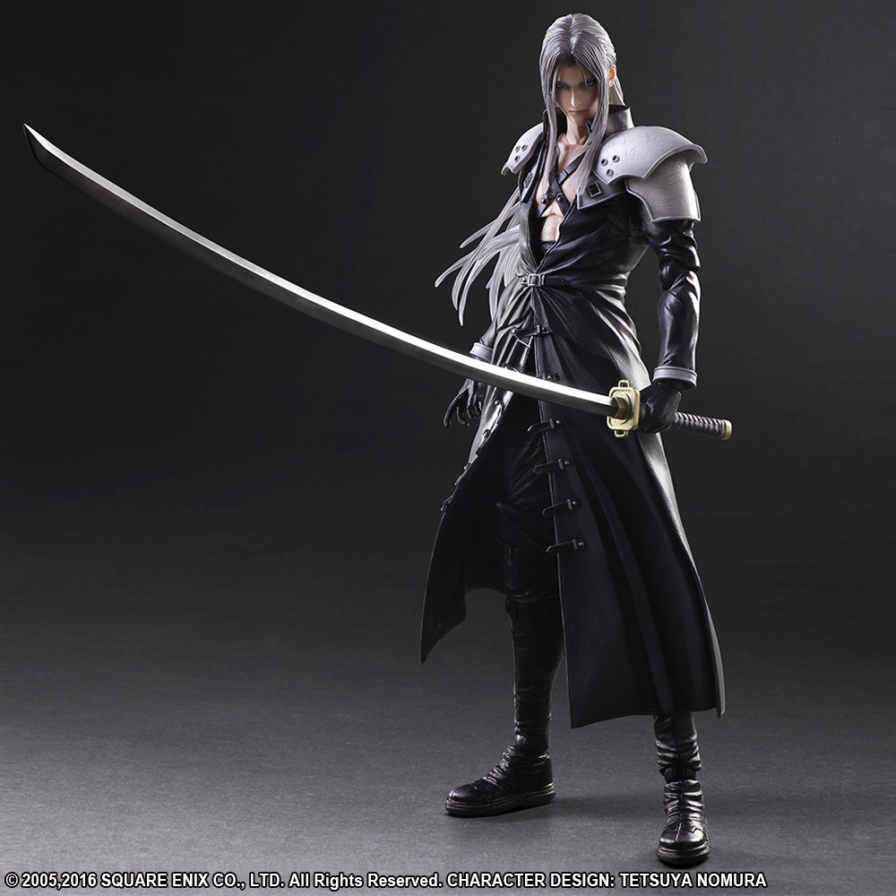 PLAY Arts Kai <font><b>Final</b></font> <font><b>Fantasy</b></font> VII <font><b>7</b></font> Sephiroth PVC Action Figure Collectible Model Toy 25cm image