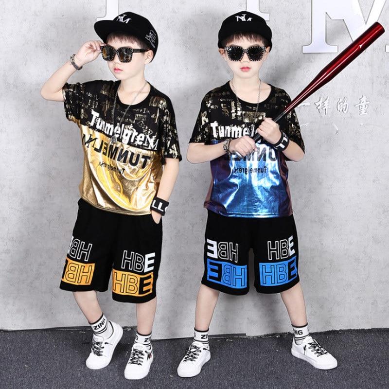 Teenage Children Boys Clothing Set Summer 2020 Letter T Shirt Hawaiian Shorts Teens Kids Boys Clothes For 6 8 10 12 13 14 Year 1