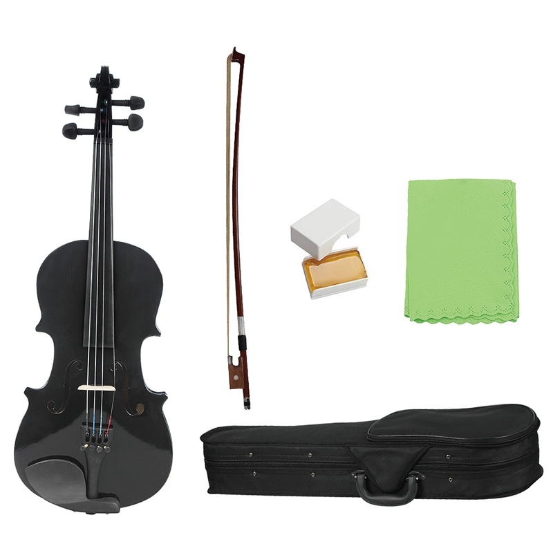 1/8 Kids Children Natural Acoustic Violin Fiddle with Case Bow Rosin Musical Instrument Gifts