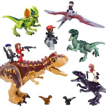 Kitoz Jurassic Toy dinosaurio Velociraptor t-rex Pterosaurio Tyrannosaurus Rex World Park bloque de construcción compatible con
