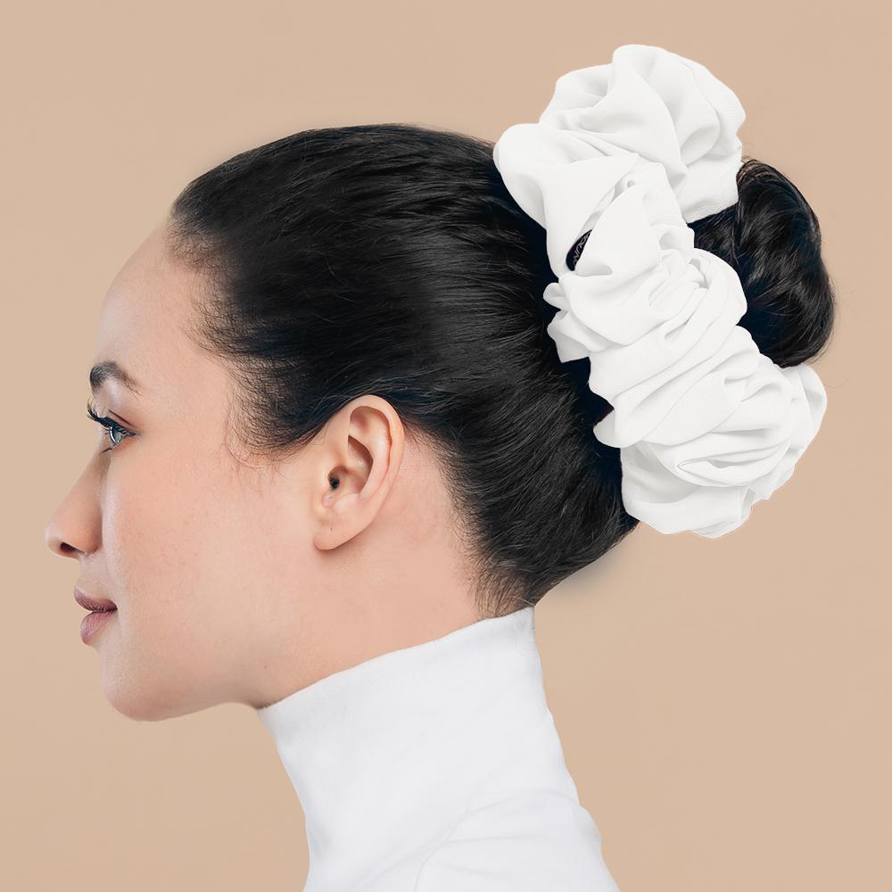 Завязка для волос для мусульманских женщин, шифоновая резинка, красивый хиджаб, объемная резинка, большой головной платок, аксессуары