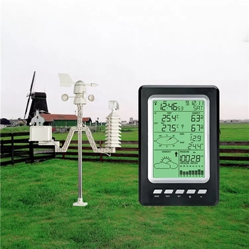 Top Wireless Solar Sensor Weather Station WS1030 433Mhz Temperature Humidity Rain Pressure Wind Speed Wind Direction