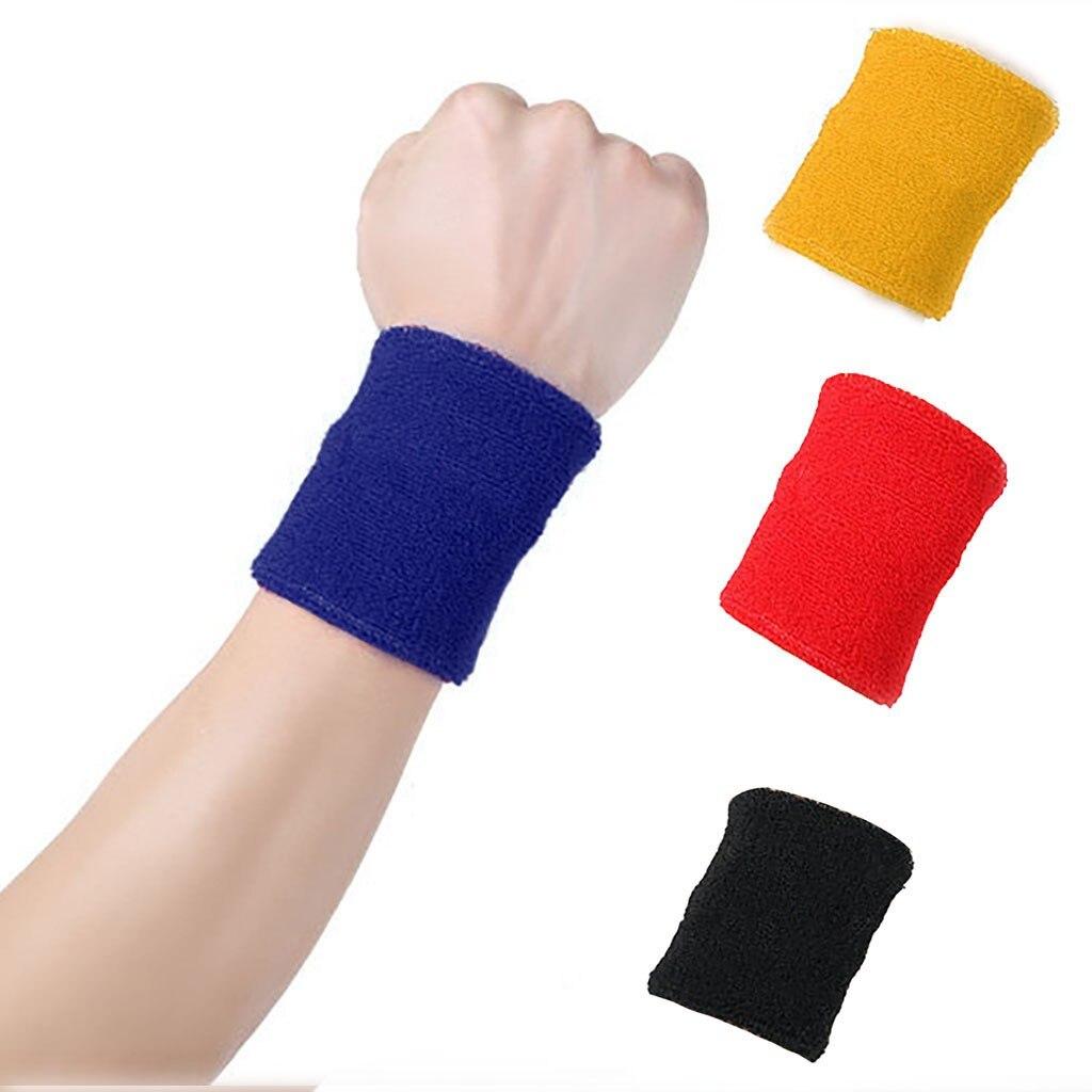 Wrist Bands Tennis Bracelet Sports Sweatband Hand Bands Sweat Brace Support Wrap