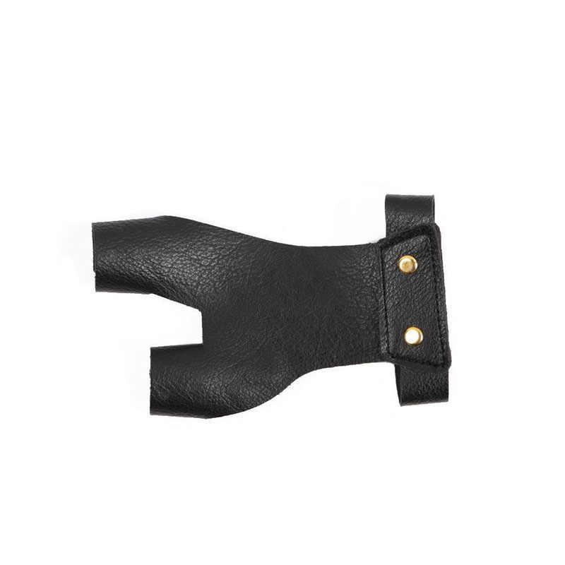 アーチェリー保護グローブ左手ガード伝統的な弓と矢印指ガード後ろに反らす屋外での撮影狩猟用品