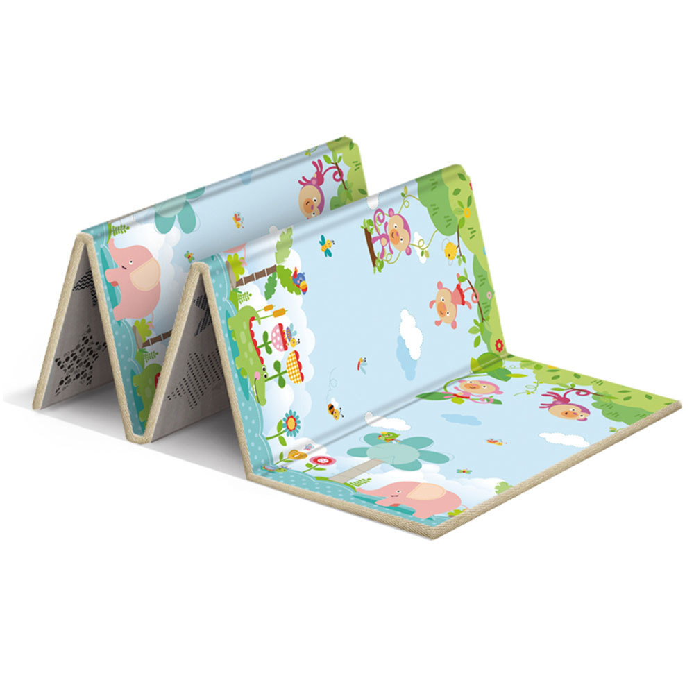 Infant Shining Kids Play Mat Folding Puzzle Playmat Game Pad For