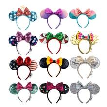 EARS Headband COSTUME Minnie Mermaid-Princess-Bows Cosplay Sequin Gift Plush Big High-Quality