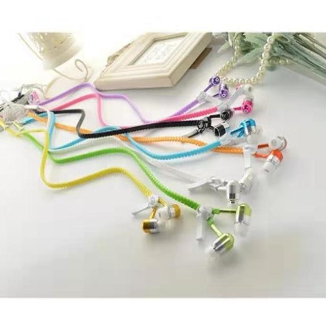 Cool LED Glowing Earphone Luminous Zipper