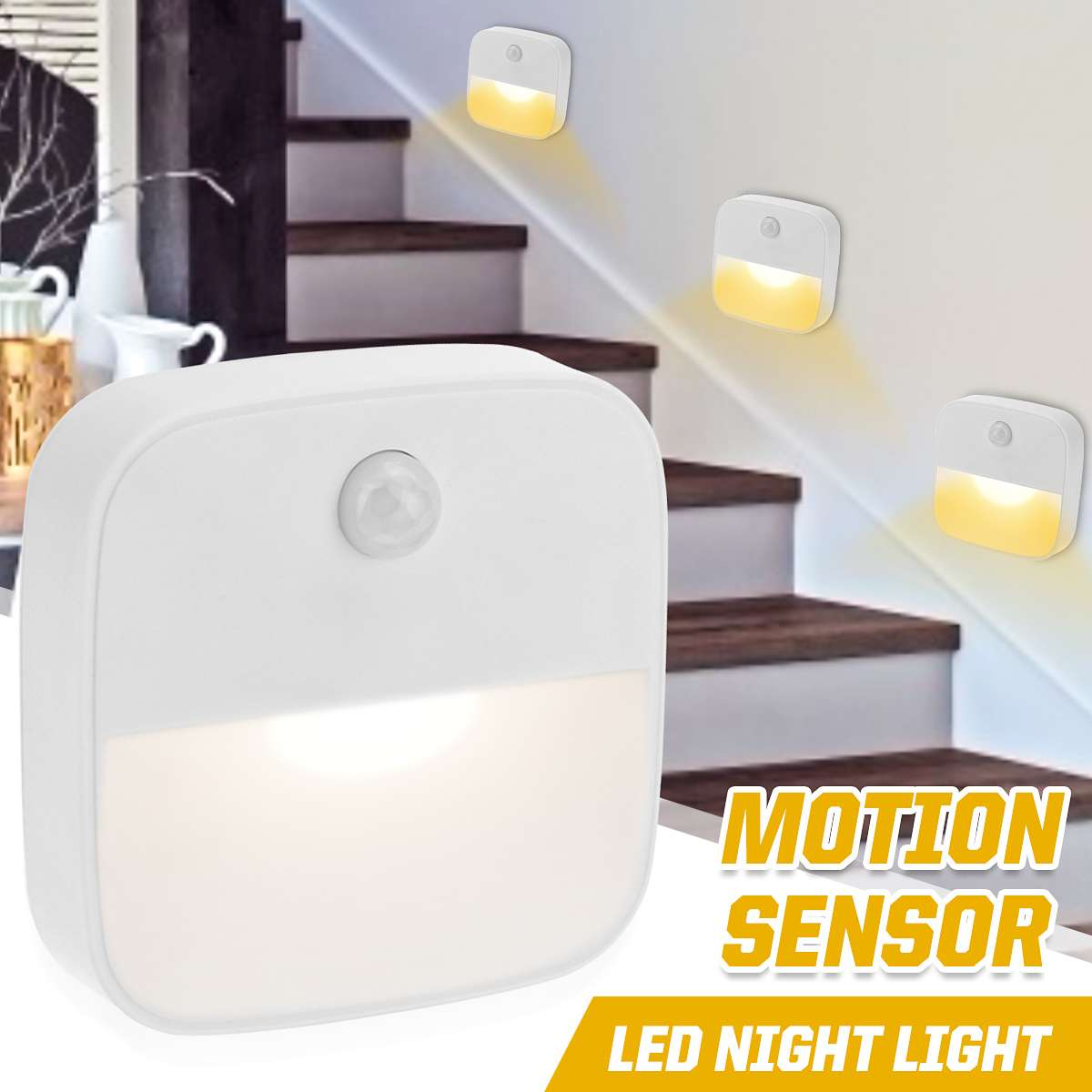 110-220V Night Light Motion Sensor PIR Human Infrared Activated Movement Detect Wall Emergency Lamp Hallway Bedroom