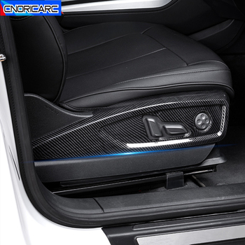ABS Seat Side Adjustment Frame Decoration Decals Car Styling For Audi Q5 FY 2018 2019 Carbon Fiber Color Interior Accessories