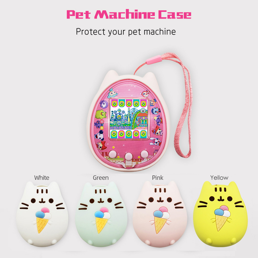 Protective Cover Shell Pet Game Machine Silicone Case For Cartoon Electronic Pet Game Machine  Handheld Virtual Pet Kids Toy