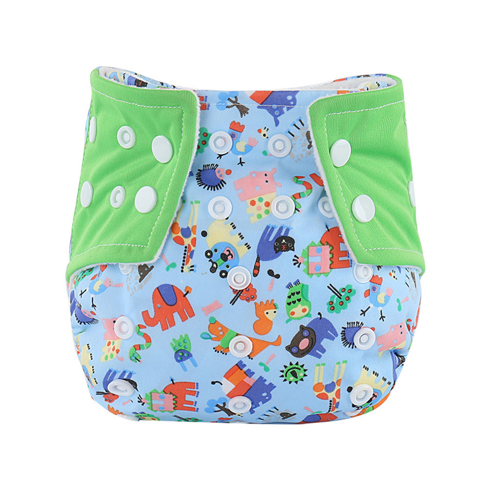 Baby Infant Printed Cloth Diapers Reusable Nappy Washable Snap Nappy Cloth Diapers Underwear Changing Training Pants Baby