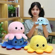 Cute Octopus Plush Reversible Double-sided Flip Octopu Plush Toy Chirdren Kids Birthday Gift Stuffed Filled Plush Child Toy