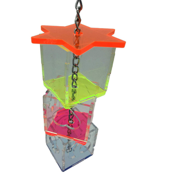 3 Layer Parrot Hanging Chewing Feeding Toy Bird Feeding Transparent Food Feeder Holder Hanging Forage Box Cage Toy 3