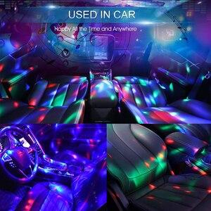 Мини USB Красочный атмосферный светильник Автомобильный USB вечерние светильник DJ светодиодный RGB интерьерный светильник клубный диско волшебный сценический эффект портативный светильник s