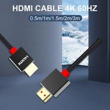 HDMI مفتاح الكابلات HDMI إلى HDMI الترا hd 4K 60Hz الحبل ل lg b9 الذكية كمبيوتر محمول LCD التلفزيون ل Ps5 HDMI 2.1 العارض 8K hdmi Kabel