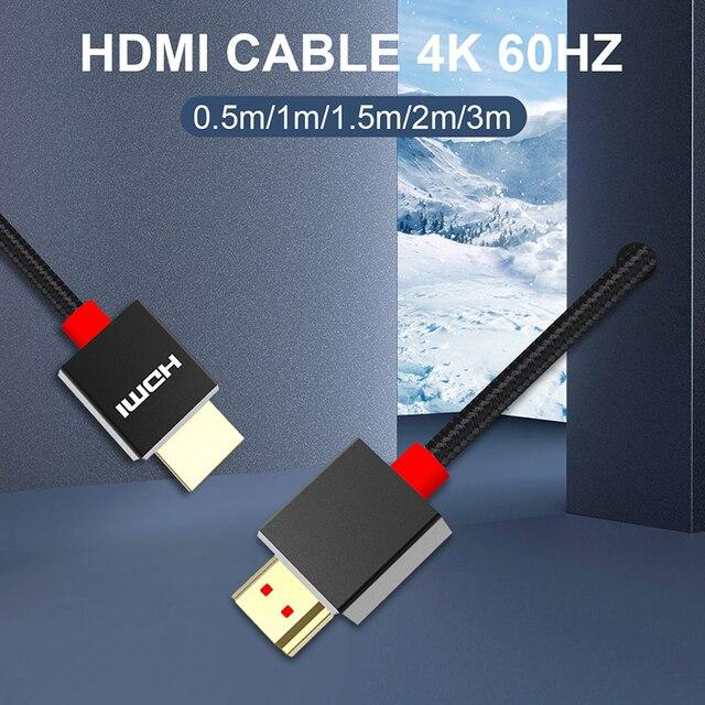 HDMIสายHDMI To HDMI Ultra Hd 4K 60HzสำหรับLg B9 Smart TV LCDแล็ปท็อปสำหรับPs5 HDMI 2.1 โปรเจคเตอร์ 8K Hdmi Kabel
