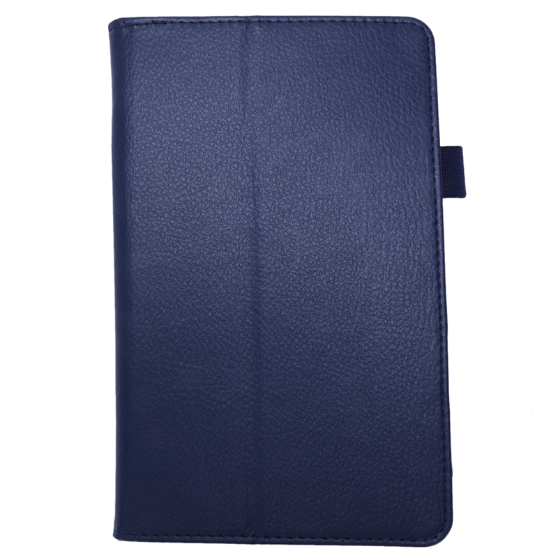 For Amazon Kindle Fire HD 7 2015 Tablet PU Leather Case Stand Cover (Dark Blue)