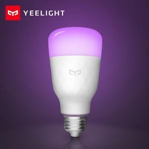 Image 3 - [英語版] yeelight スマート led 電球カラフルな 800 ルーメン 10 ワット E27 レモンスマートランプミホームアプリ白/rgb オプション