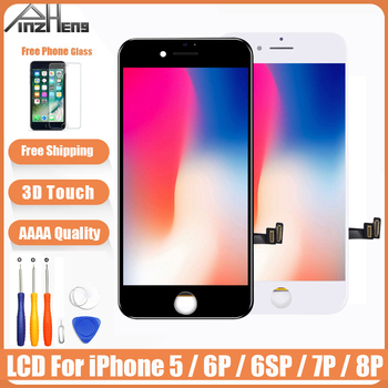AAAA Quality Screen LCD For iPhone 5 6 6s 7 8 Plus LCD Display Assembly Digitizer No Dead Pixel With 3D Touch Replacement LCD factory quality ips lcd display 7 85 for supra m847g internal lcd screen monitor panel 1024x768 replacement