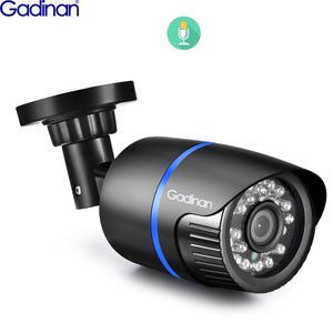 Image 1 - Gadinan 5MP 2592X1944P 3MP 2MP enregistrement Audio POE IP caméra extérieure CCTV Surveillance balle caméra IR Leds P2P ONVIF 48V POE