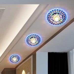 Image 5 - LED Ceiling Lamp Peacock Light Surface Mount Lamp Chandelier Modern Crystal Decor Living Room Corridor Aisle Celling Lights