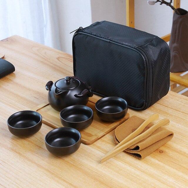 Ceramic teapot kettle gaiwan Chinese Travel Ceramic tea cup for puer chinese tea pot portable tea set drinkware Free shipping 9